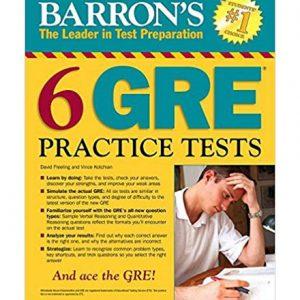 کتاب Barrons 6 GRE Practice Test