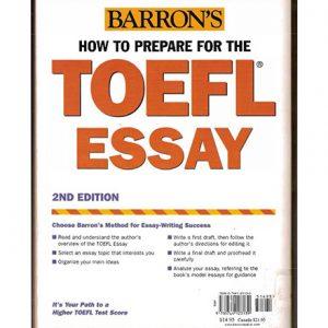 کتاب Barron's How to Prepare for the TOEFL Essay
