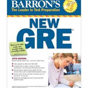 کتاب Barrons New GRE 19th Edition