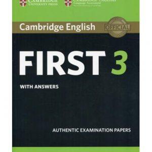 کتاب Cambridge English First 3 with Answers 2018
