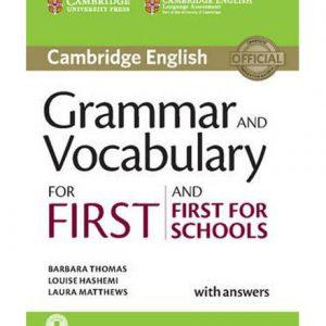 کتاب Grammar and Vocabulary for First 2015
