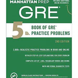 کتاب Manhatan Prep s 5 lb Book of GRE Practice Problems