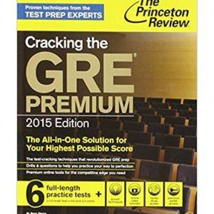 کتاب Princetons Cracking the GRE Premium Ed with 6 Practice Tests 2015