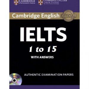 دانلود پکیج مجموعه کتاب های Cambridge IELTS 1 to 15