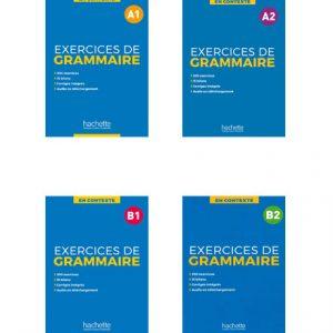 دانلود مجموعه کتاب های En Contexte - Exercices de grammaire از انتشارات Hachette
