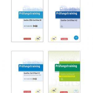 دانلود پکیج PDF کتاب آلمانی Prüfungstraining Goethe-Zertifikat