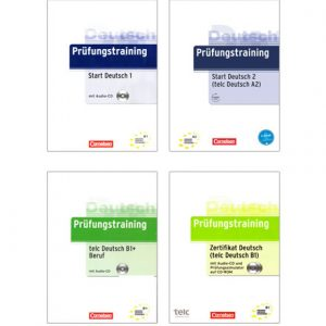 دانلود پکیج PDF کتاب آلمانی Prüfungstraining Telc Deutsch