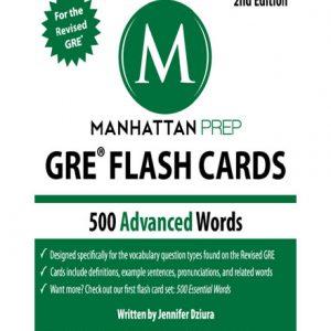 فایل کتاب 500 Advanced Words GRE Vocabulary Flash Cards by Manhattan Prep