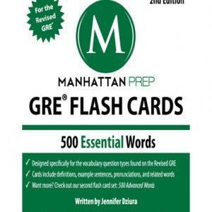 فایل کتاب 500 Essential Words GRE Vocabulary Flash Cards by Manhattan Prep