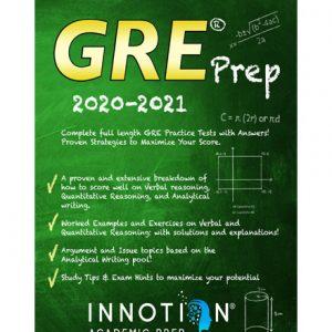 فایل کتاب Innotion gre prep 2020-2021 complete full length gre practice tests