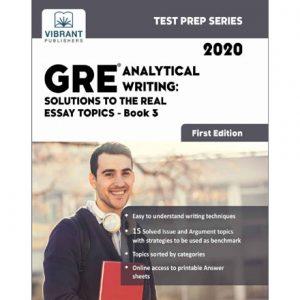 فایل کتاب Vibrant - GRE Analytical Writing - Solutions to the Real Essay Topics - Book 3 (2020)