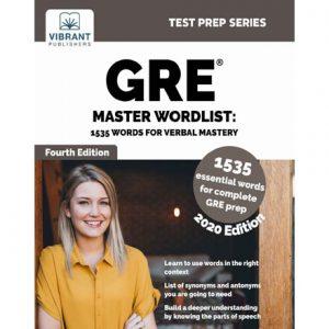 فایل کتاب Vibrant - GRE Master Wordlist - 1535 Words for Verbal Mastery 2020