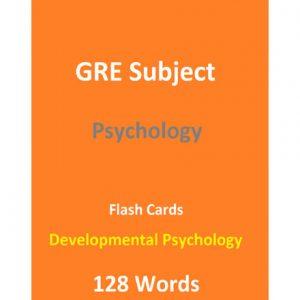 کتاب 128Words GRE Psychology Test Developmental Psychology