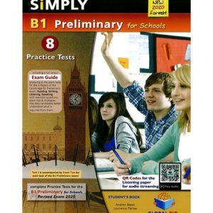 فایل کتاب Simply B1 Preliminary for Schools 8 Practice Tests
