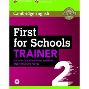 فایل کتاب First for Schools Trainer 2